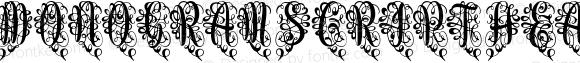 Monogram Script Heart Unmerged