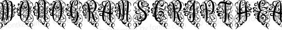Monogram Script Heart