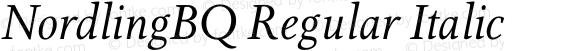 NordlingBQ Regular Italic