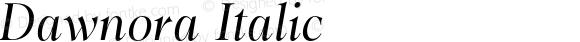 Dawnora Italic