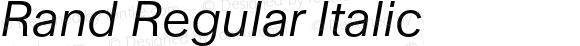 Rand Regular Italic