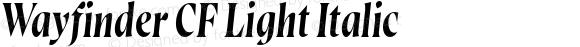 Wayfinder CF Light Italic