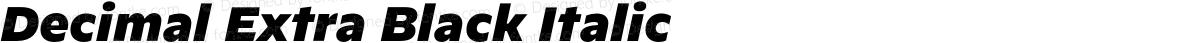 Decimal Extra Black Italic