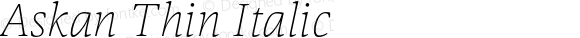 Askan Thin Italic