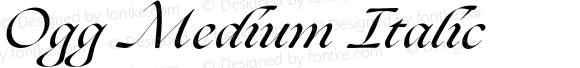 Ogg Medium Italic
