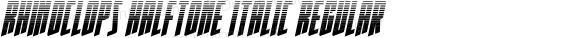 Rhinoclops Halftone Italic
