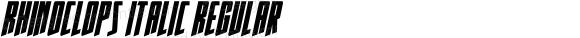Rhinoclops Italic