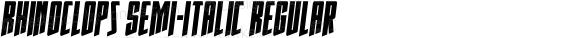Rhinoclops Semi-Italic