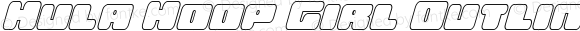 Hula Hoop Girl Outline Italic Outline Italic