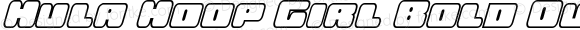 Hula Hoop Girl Bold Outline It Bold Outline Italic