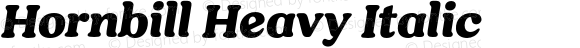 Hornbill Heavy Italic