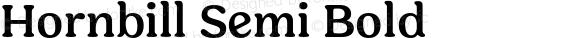 Hornbill Semi Bold