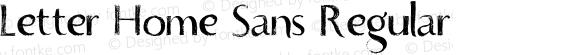 Letter Home Sans