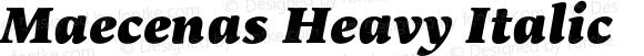 Maecenas Heavy Italic