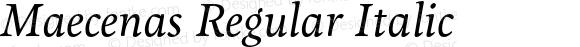 Maecenas Regular Italic