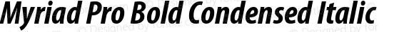 Myriad Pro Bold Condensed Italic