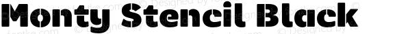Monty Stencil Black
