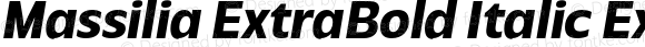 Massilia ExtraBold Italic Extra Bold Oblique