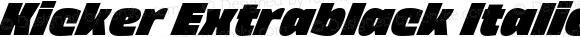 Kicker Extrablack Italic