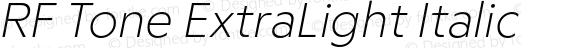 RF Tone ExtraLight Italic