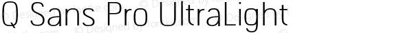 Q Sans Pro UltraLight