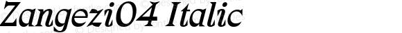 Zangezi04 Italic