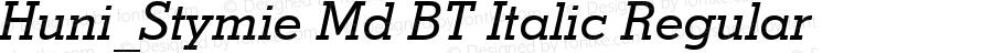 Huni_Stymie Md BT Italic Regular 1997.06.02