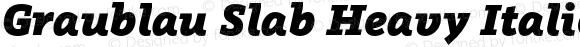Graublau Slab Heavy Italic