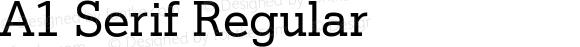 A1 Serif Regular
