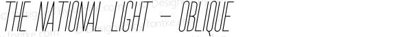The National Light - Oblique