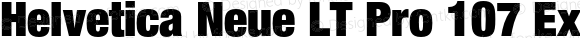 Helvetica Neue LT Pro 107 Extra Black Condensed