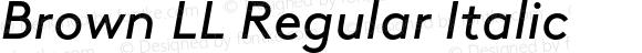 Brown LL Regular Italic