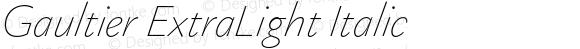 Gaultier ExtraLight Italic