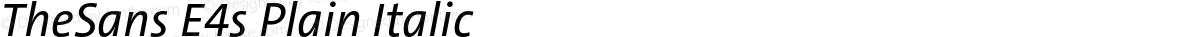 TheSans E4s Plain Italic
