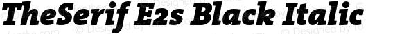 TheSerif E2s Black Italic