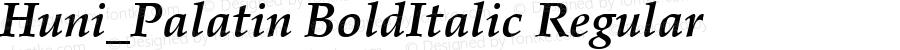 Huni_Palatin BoldItalic Regular 1997.05.30