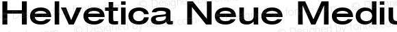 Helvetica Neue Medium Oblique