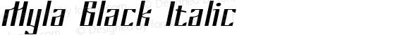 Myla Black Italic