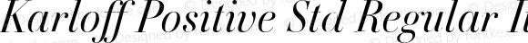 Karloff Positive Std Regular Italic