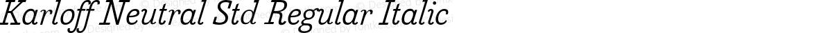 Karloff Neutral Std Regular Italic