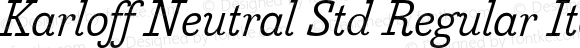 Karloff Neutral Std Regular Italic