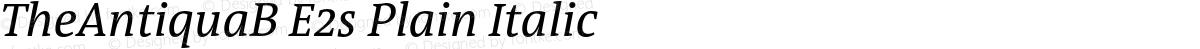 TheAntiquaB E2s Plain Italic