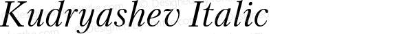 Kudryashev Italic