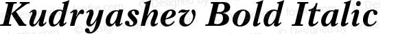 Kudryashev Bold Italic