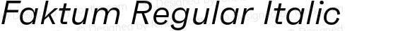 Faktum Regular Italic
