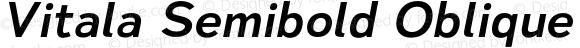 Vitala Semibold Oblique