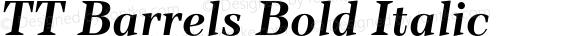 TT Barrels Bold Italic