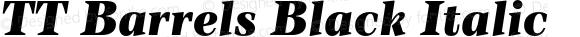 TT Barrels Black Italic
