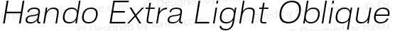Hando Extra Light Oblique
