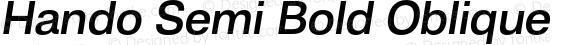 Hando Semi Bold Oblique
